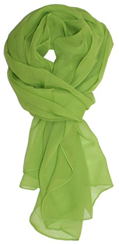 Ted and Jack - Solid Silk Lightweight Accent Scarf in Light Moss Green