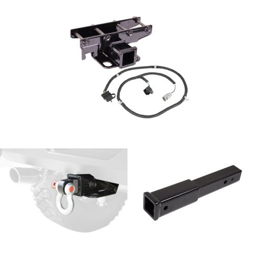 Rugged Ridge Receiver Kit with Wiring Harness, Shackle Bracket, & Extension Arm by Rugged Ridge