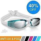 ARTEESOL Swimming Goggles,No Leaking Anti Fog Swim Goggles Crystal Clear Vision Mirrored