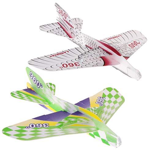 JAGENIE Interesting Foam Paper Airplane Maneuver Plane Gliding Model Children's Toy GiftChristmas New Year Gift,1 pc, Random -