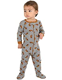 Kids Pajamas Baby Boys Girls Footed Pajamas Sleeper 100% Cotton (Size 6-12 684ef9fe3