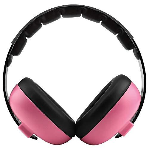 Sound Ear Muffs,Kids Earmuffs Hearing Protection,Infant Headphones,Junior Baby Ear Defenders,Headphones Noise Reduce,Baby Headphones Noise Reduction,for Children,Women (Pink)