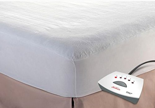 Sunbeam Heated Mattress Pad – Non-woven top – 5 Heat Settings with 10 Hour Auto-Off (FULL)