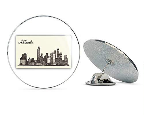 Atlanta City USA Label Round Metal 0.75