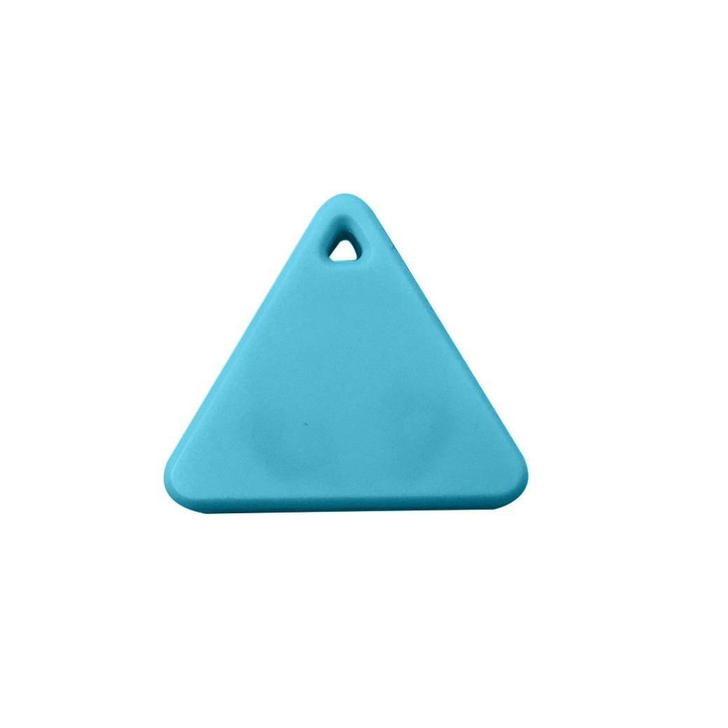 Gotd Bluetooth Mini GPS Tracker Locator Alarm Pet Child Wallet Key Finder (Blue)