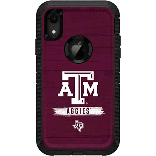Skinit Texas A&M University OtterBox Defender iPhone XR Skin - Officially Licensed Texas A&M University OtterBox Case Decal - Ultra Thin, Lightweight Vinyl Decal Protection ()