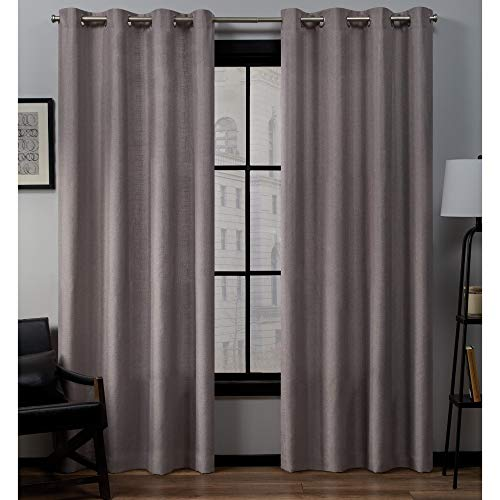 Exclusive Home Curtains Loha GT Panel Pair, 54x96, Dusty Lavender