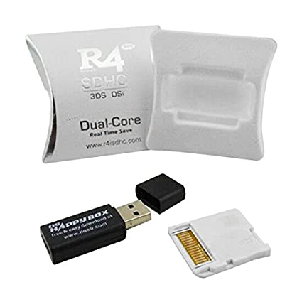 EDTara 2018 Upgrade R4 SDHC Micro SD Memory Adapter Card F DS 3DS 2Ds Ndsi  Ndsl Nds HS White