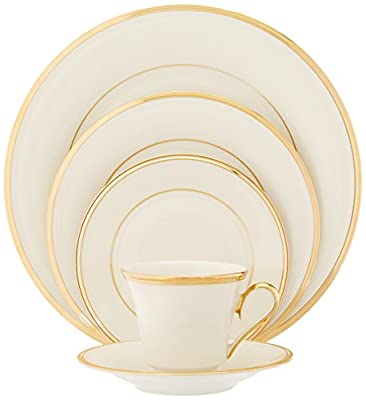 Lenox Eternal Gold-Banded Fine China 5-Piece Place Setting