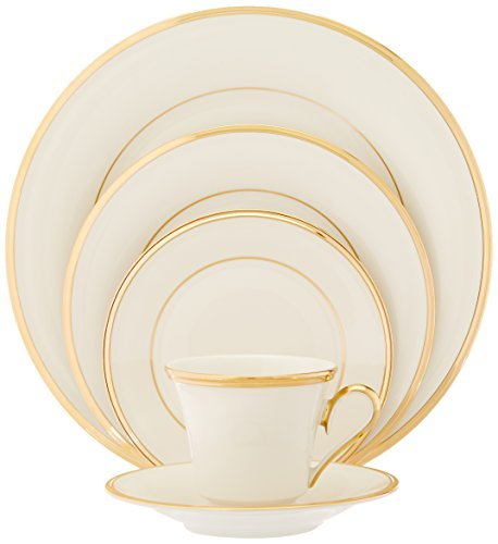 Eternal Fine Dinnerware (Lenox Eternal Gold-Banded Fine China 5-Piece Place Setting, Service for 1)