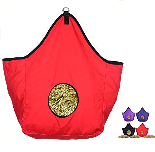 WESTRIDE Canvas Hay Bag with D Ring (Red)