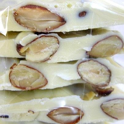 White Chocolate Almond Bark - 1lb Gift Box