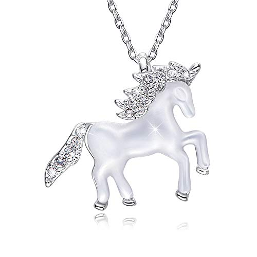 EleShow Necklace for Women Animal Necklace Pendant Girls Gift Jewelry Crystals from Swarovski (Silver) ()
