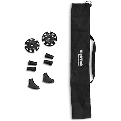 High Trek - Trekking Pole Tips and Carrying Bag Accessories Kit