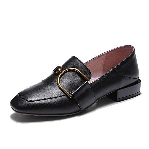 Chaussures Bouche Pour Femmes Peu Tête Nouvelles Les Profonde Plates Black MUYII Occasionnelles Carrée Femmes Des Chaussures fOvXpq