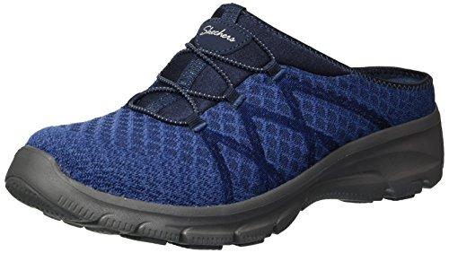 Skechers Women's Knitty Gritty-Knit Bungee Version of The Easy Going-Repute Mule, Navy, 10 M US