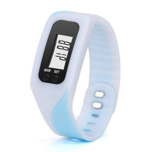Sport Wristwatch,SINMA Digital LCD Pedometer Run Step Walking Distance Calorie Counter Watch Bracelet (White) (Automatic Calendar Watch White)