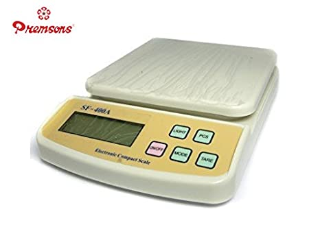 5396cdc32 Buy Premsons Advanced Electronic Kitchen Digital Weighing Scale Up to 10 Kg  Online at Low Prices in India - Amazon.in