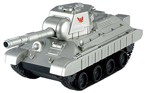 連結可動式 キャタピラ R/C BATTLE TANKラジコン 戦車 おもちゃ 子供 (3886シルバー)