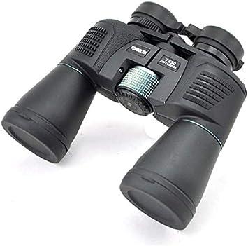 Scra AC Binoculares 7X50 Prismáticos binoculares, super grande ancho de visión lentes BAK4 FMC Durable a prueba de agua de alta potencia Ferngl? Ser, for el fútbol Safari Observación de aves Caza Esca