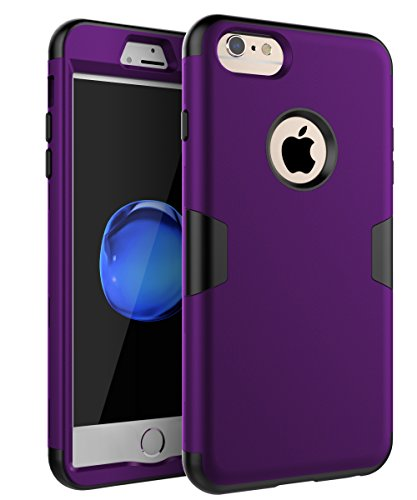 "iPhone 6 Plus Case, iPhone 6s Plus Case,TOPSKY Three Layer Heavy Duty High Impact Resistant Hybrid Protective Cover Case for iPhone 6 Plus and iPhone 6s Plus (Only for 5.5""), Purple/Black"