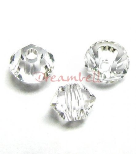 72 pcs Swarovski Crystal 5328 Xilion Bicone Bead Spacer Clear 3mm / Findings / Crystallized Element