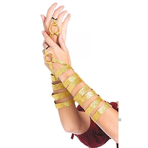 Greek Goddess Costume Golden Arm Wraps for Women Adult Halloween Fancy Dress