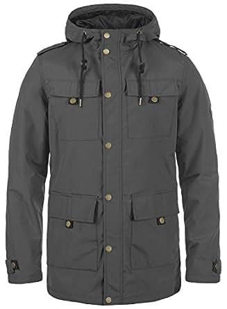 Redefined Rebel Moe Chaqueta De Entretiempo Abrigo para Hombre con Capucha, tamaño:S, Color:Antracit Grey