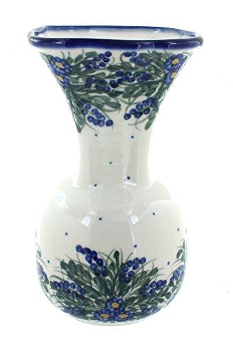 WR Unikat Blue Rose Polish Pottery Hyacinth Vase