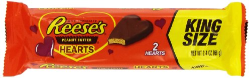 Amazon.com : Reese's Valentine's Peanut Butter Hearts, King Size ...