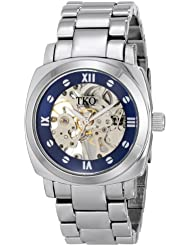 TKO ORLOGI Womens TK628S See Through Mechanical Skeleton Hand with Silver Bracelet Watch