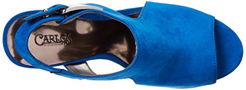 Women's Malor Sandal by Carlos Wedge Santana Carlos Blue qtPT7