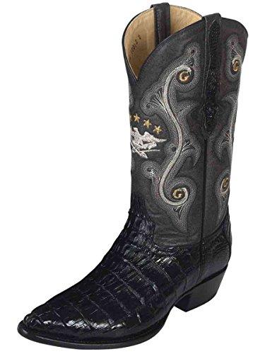 El General Bota Vaquera Exótico/a ID 9032 (Piel Caimán Cola Negro (11) (Cowgirl Stingray Boots)