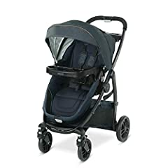 The Graco Modes Bassinet Stroller grows with your child from infant to toddler. It is 3 full-featured strollers in 1 for versatile riding options form infant to toddler: infant bassinet, infant car-seat carrier, and toddler stroller. The reve...