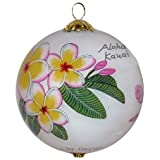 Maui By Design Collectible Hawaiian Hibiscus and Plumeria Christmas Ornament Kauai