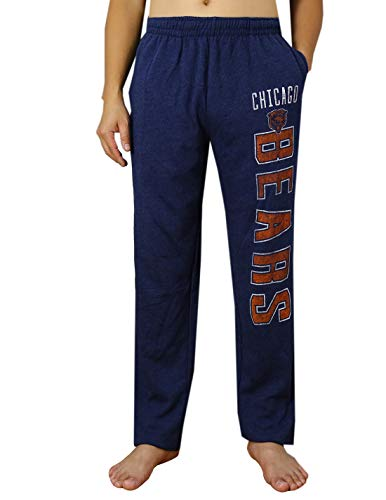 - Mens CHI Bears Winter Sports Pants/Lounge Sweatpants with Two Side Pockets Dark Blue Size M