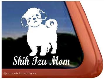 Amazoncom Shih Tzu Mom Dog Auto Vinyl Window Decal Sticker - Window decal sticker