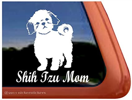 e5ca8756a253c Shih Tzu Mom Dog Auto Vinyl Window Decal Sticker