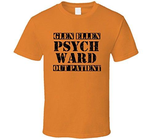 Funny Costumes Halloween Ellen (Glen Ellen California Psych Ward Funny Halloween City Costume Funny T Shirt 2XL)