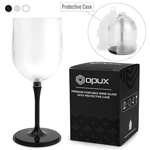 Elegant Portable Collapsible Wine Glass | Unbreakable, Shatterproof Clear Plastic Wine Glass | BPA FREE, Dishwasher Safe, Detachable Stem Wine Cup | Perfect for Camping, Outdoor, and Travel
