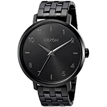 Nixon Women's 'Arrow' Quartz Metal and Stainless Steel Casual Watch, Color:Black (Model: A1090001-00)