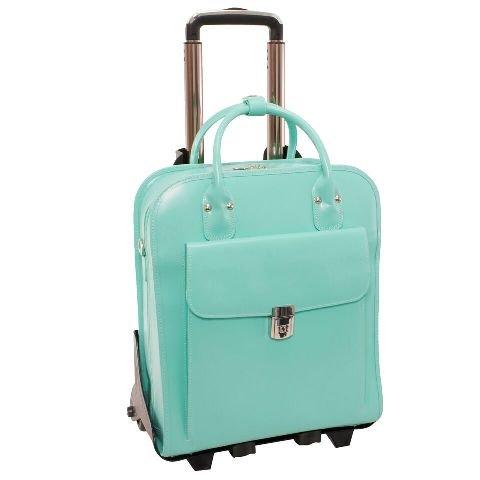 McKlein USA LA Grange Mint 15.6'' Leather Vertical Detachable, Wheeled Ladies' Briefcase (96492)