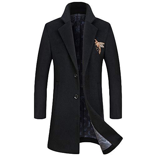 Formal Invierno Abrigo Trench Gris Cálido Negro Azul Chaqueta De Fit zqzY1awC