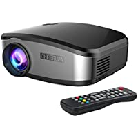 Docooler C6 LED Projector 1200 Lumens1080P Projection Machine with USB HDMI VGA AV Remote Controller for Smartphone Laptop PC