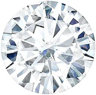 8.0 MM Round Brilliant Cut Forever One® Moissanite by Charles & Colvard 57 Facets - Very Good Cut (1.6ct Actual Weight, 1.90ct Diamond Equivalent Weight)