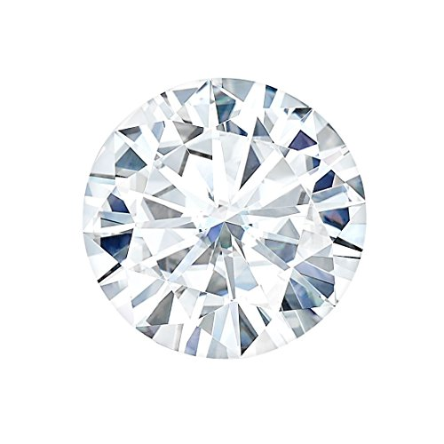 8.0 MM Round Brilliant Cut Forever One® Moissanite by Charles & Colvard 57 Facets - Very Good Cut (1.6ct Actual Weight, 1.90ct Diamond Equivalent Weight) by Forever One®