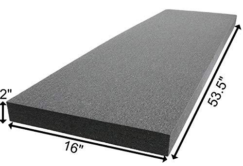Case Club Polyethylene Customizable Foam 53.5 x 16 x 2.0 Inches