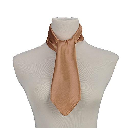 Usher Uniform - Ladies Vintage Plain Square Scarf Silk Feel Small Headkerchief Khaki Bandana