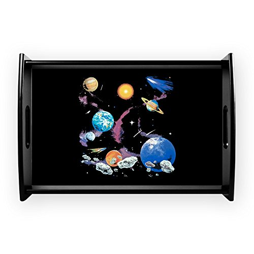 Small Serving Tray Solar System And Asteroids by Royal Lion