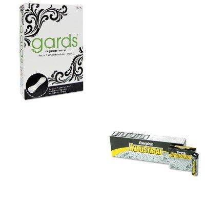 KITEVEEN91HOS4147 - Value Kit - Hospeco 4-147 Gards Maxi Pads Sanitary Napkins, #4 (HOS4147) and Energizer Industrial Alkaline Batteries (Hospeco Gards Maxi Pads)
